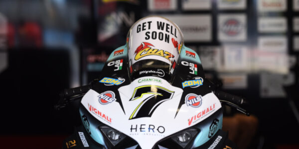 CHAZ ENDS PREMATURELY THE MONTMELO' WEEKEND, FOLLOWING A CRASH WITH ANOTHER RIDER!
